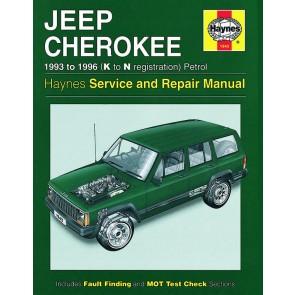 Haynes Workshop Manual for Jeep Cherokee