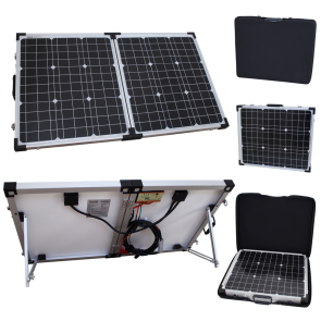 80w 12v Folding Solar Charging Kit for Expedition, Overlanding, Caravans, Motorhomes and Boats
