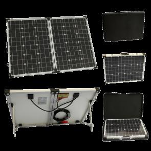 100w 12v Folding Solar Charging Kit for Expedition, Overlanding, Caravans, Motorhomes and Boats