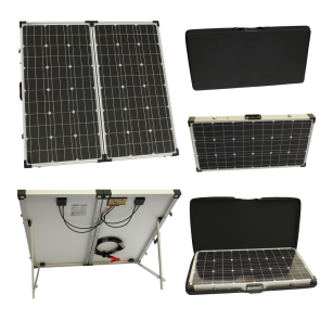 150w 12v Folding Solar Charging Kit for Expedition, Overlanding, Caravans, Motorhomes and Boats