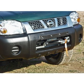 AFN Hidden Winch Mount - Nissan Navara D22