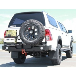 AFN Toyota Hilux 2015 On Revo Rear Bumper WIth Jerry Can & Wheel Mount