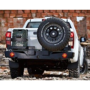 AFN Isuzu D-Max 2012 on Rear Bumper WIth Jerry Can & Wheel Mount