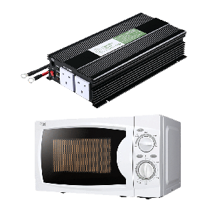 1500W 12V Power Inverter + Microwave Oven Combo
