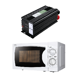 2000W 24V Power Inverter + Microwave Oven Combo