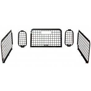 D44 Defender 2002 to 2016 External Window Guard Set (with inside rear door)