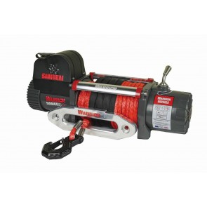 Warrior S9500 V2 Samurai Winch with Synthetic Rope 12v
