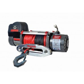 Warrior 9500 V2 High Speed Samurai 12v Electric Winch with Synthetic Rope - Clearance