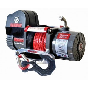 Warrior 9500 V2 Short Drum Samurai 12v Electric Winch with Synthetic Rope