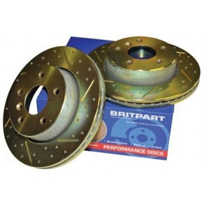 Britpart Performance Brake Discs suits Defender - 1987 - 2006 & 2007 onwards, Discovery 1 and Range Rover Classic - 1986 - 1991