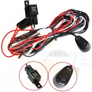 Bushranger Spot / Driving Light Wiring Loom 12v / 24v