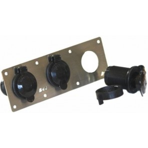 D44 12v Socket Mount - 3 way