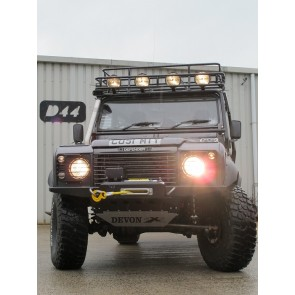 D44 Defender High Mount Bumper For Lowline Winch - Tapered Ends