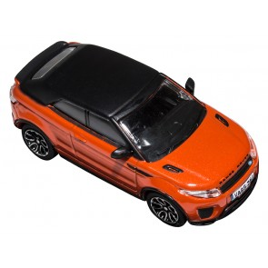 Die-cast 1:76 Range Rover Evoque Convertable Phoenix Orange