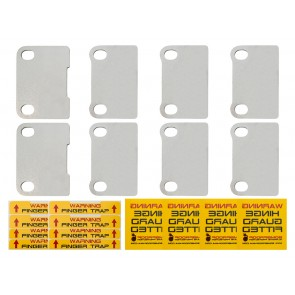 Bombproof Defender Door Security Hinge Guards - 4 Door Kit