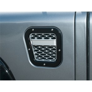 Britpart Defender Intake Grille XS Set  - Black With Silver Mesh LHS