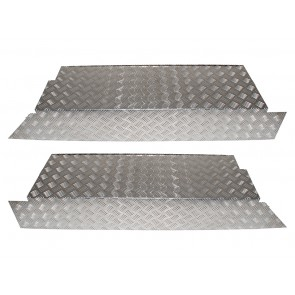 Defender 110 CSW Load Area Sides (Pair) Chequer Plate