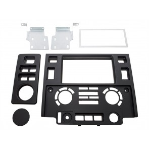 Defender Tdci Double DIN facia plate - Matt Black