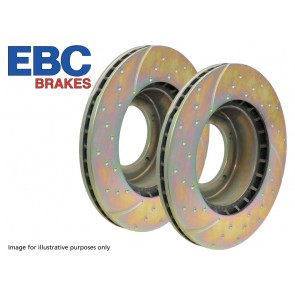 EBC Performance Brake Discs  Front Vented (Pair) suits Range Rover P38 - 1995 - 2002