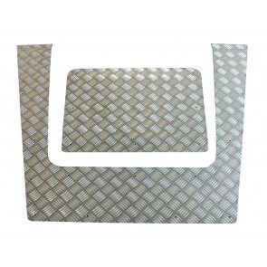 Britpart Defender Chequer Plate Bonnet 2007 To 2016 - Plain