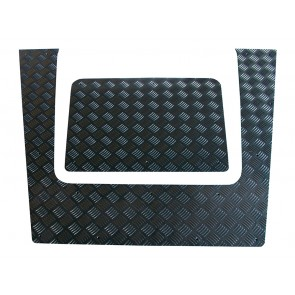 Britpart Defender Chequer Plate Bonnet 2007 To 2016 - Black