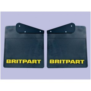 Britpart Mudflaps - Yellow Logo Pair - Defender - Rear