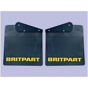 Britpart Mudflaps - Yellow Logo Pair - Defender - Rear