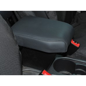 Freelander 2 up to 2012 (with no factory fitted armrests) Cubby Box and Armrest - Black Leather