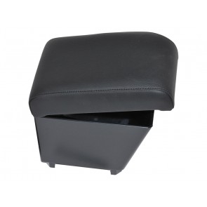 Freelander 2 up to 2012 (with no factory fitted armrests) Cubby Box and Armrest - Black Eco Leather