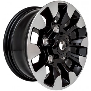 Limited Edition Diamond Cut Sawtooth Alloy Wheel - Black Gloss 18""