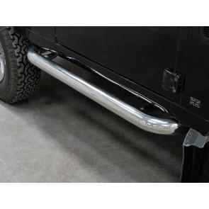 Defender 90 Side Protector Tube Set - Stainless