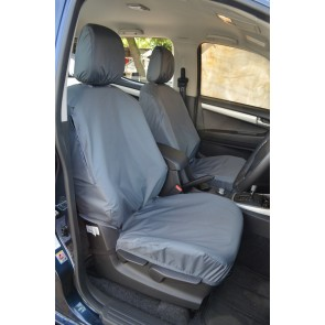Isuzu D-Max (2012 to current) Double Cab Front and Rear Seats With Rear Central Armrest Seat Covers