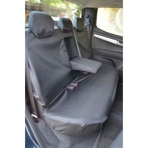 Isuzu D-Max (2012 to current) Double Cab Rear Seat With Central Armrest Seat Covers