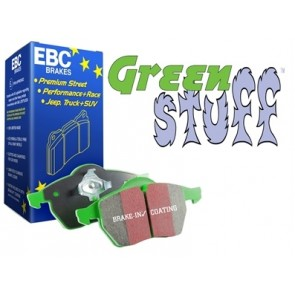 EBC Green Stuff Brake Pads suits Defender 90 - from 1994, Discovery 1 - without sensor and  Range Rover Classic - up to 1985