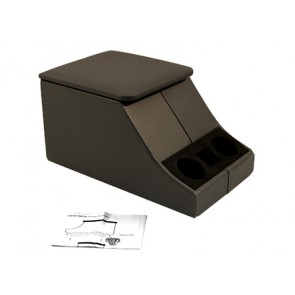 Defender Cubby Box Black Leather Lid