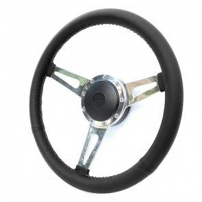 "Exmoor William Black Leather Spoked 15"" steering wheel choice of boss"