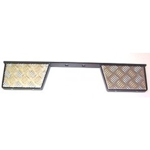 Tow Bar Mounting Rear Twin Step - Black With Chequer Plate