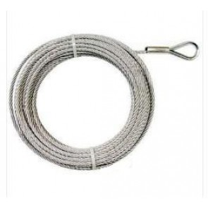 Wire Rope 8mm X 38m Term No Hook Hard Eye