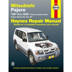 Haynes Repair Manual for Mitsubishi  Pajero 1997 thru 2009 series NL thru NT
