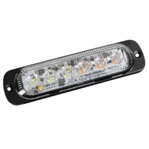 Guardian High Intensity 6 LED Warning Light - Red / Amber