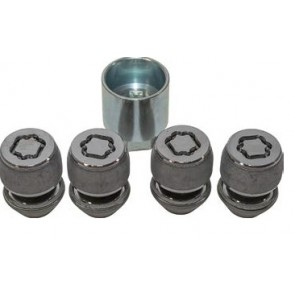 Freelander 2, Discovery Sport, Evoque, Velar  Locking Wheel Nuts  x 4 with Key