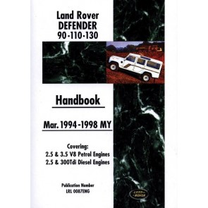 Defender Hand Book 1994 - 1998 LRL0087ENG