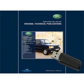 Range Rover P38 - 1994 - 2001 Original Technical Publication USB