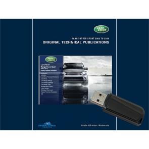 Range Rover Sport - 2005 - 2009 Original Technical Publication USB
