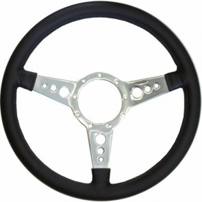 "Mota-Lita Steering Wheel 15"" Silver With Holes"