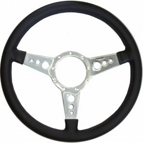 "Mota-Lita Steering Wheel 15"" Silver With Holes"