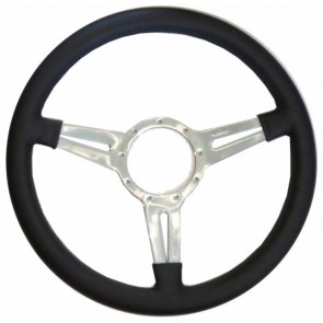 "Mota-Lita Steering Wheel 15"" Silver With Slots"