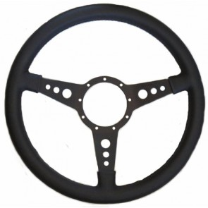"Mota-Lita Steering Wheel 15"" Black With Holes"