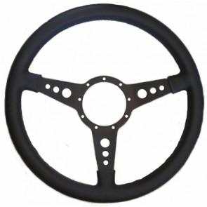 "Mota-Lita Steering Wheel 15"" Black With Holes"