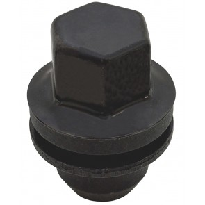 D3, 4 & 5 / RR L322 / RR L405 / RR Sport (Capped) Black Alloy Wheel Nut RRD500510B